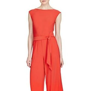 Lauren Ralph Lauren Coral Jersey Jumpsuit